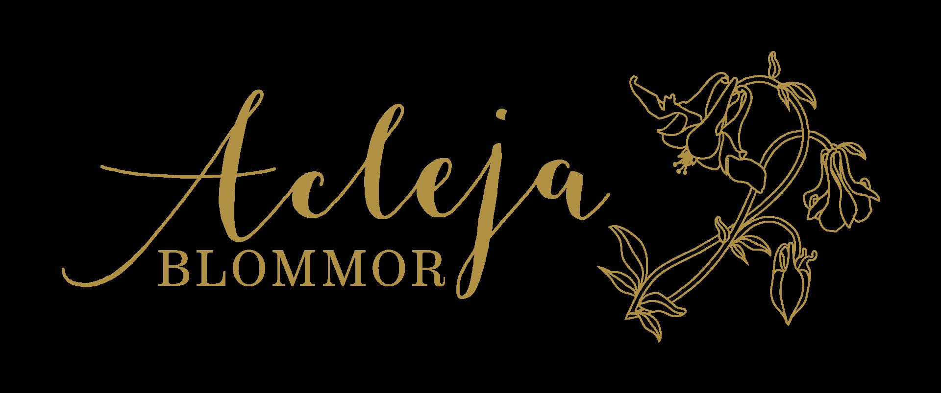 Logotyp åt Acleja blomsterhandel